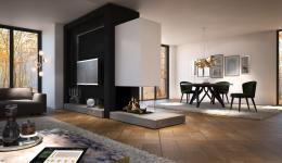 <p><span>Are you looking for a gas fire that can act as a room divider, letting you enjoy the experience from anywhere in the living room?</span><br><span> </span><br><span>The Maestro 75XTU </span><em>Eco Wave</em><span> is the ideal solution. Having a view of the fire on three sides allows you to enjoy its atmosphere and warmth from all angles.</span><br><span> </span><br><span>And, when installed in an L-shaped living room, it becomes a perfect corner fire!</span></p>