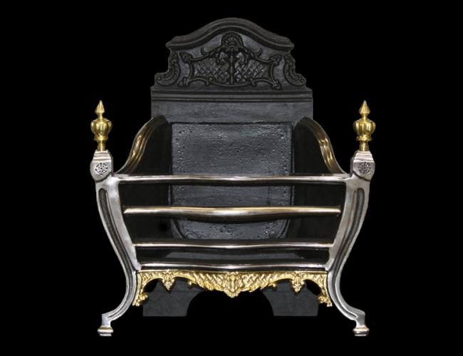 Louis Brass Fire Basket