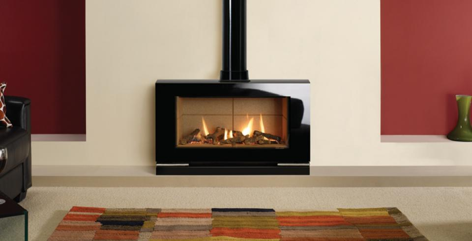 <p>Manufacturer: Gazco&lt;br&gt;Output: 5.20kW conventional flue, 5.20kW     balanced flue&lt;br&gt;Fuel type: natural gas and LPG&lt;br&gt;Flue     type: conventional and balanced flue&lt;br&gt;Controls: thermostatic remote&lt;br&gt;Colours and  finishes: black glass with a choice of three linings and four fuel beds&lt;br&gt;Net efficiency: 75% conventional flue, 81% balanced  flue</p>