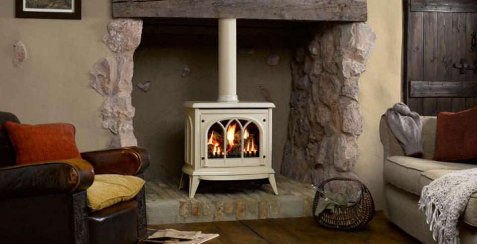 <p>Manufacturer: Gazco&lt;br&gt;Output: 5.28kW conventional flue, 5.25kW       balanced flue&lt;br&gt;Fuel type: natural gas and LPG&lt;br&gt;Flue       type: conventional, balanced flue and power flue&lt;br&gt;Controls:  manual with      optional standard remote or programmable  remote&lt;br&gt;Colours and   finishes: matt black and matt ivory painted  finishes and three enamel finishes&lt;br&gt;Net efficiency: 78% conventional flue, 82% balanced    flue</p>
