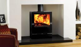 <p>Manufacturer: Stovax&lt;br&gt;Nominal output: 8kW&lt;br&gt;Fuel type:    wood and multi-fuel versions available&lt;br&gt;Smoke control exempt: yes&lt;br&gt;Colours and finishes: gloss black paint finish&lt;br&gt;Net efficiency: 73% wood, 79% smokeless fuel</p>