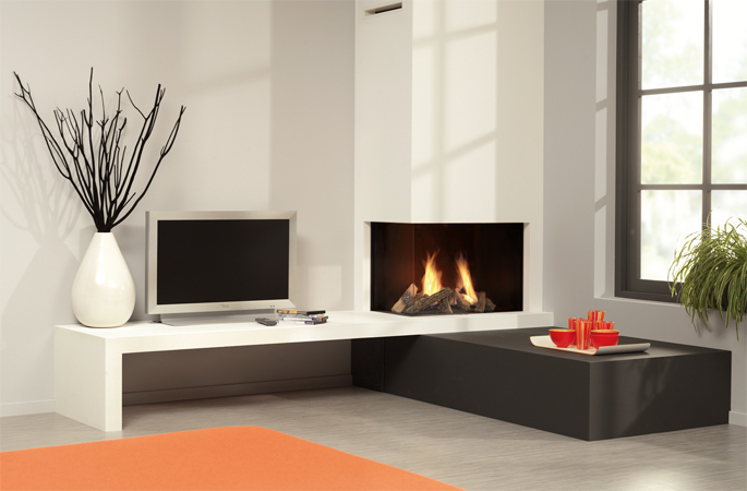 Dru Saxo 70 slim line gas fire